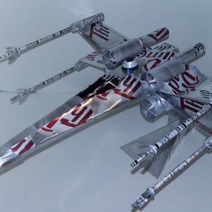 Popcan airplane X-wing