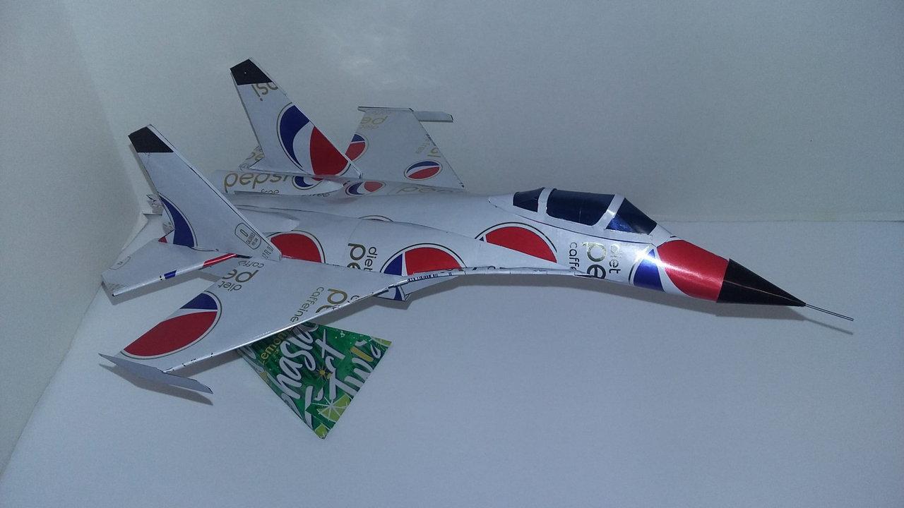 Pop can airplane Shenyang J-11