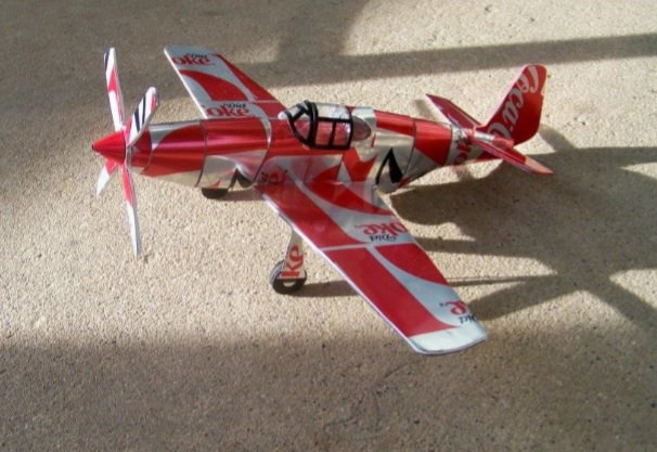 Pop can airplane P-51B Mustang