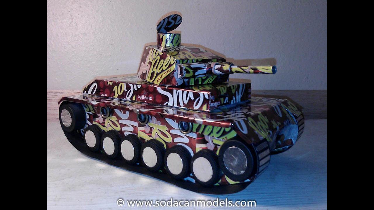 Popcan Panzer III Tank