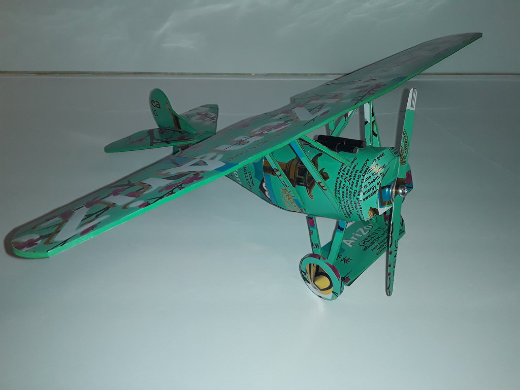 Popcan airplane plans and ppopcan model instructions